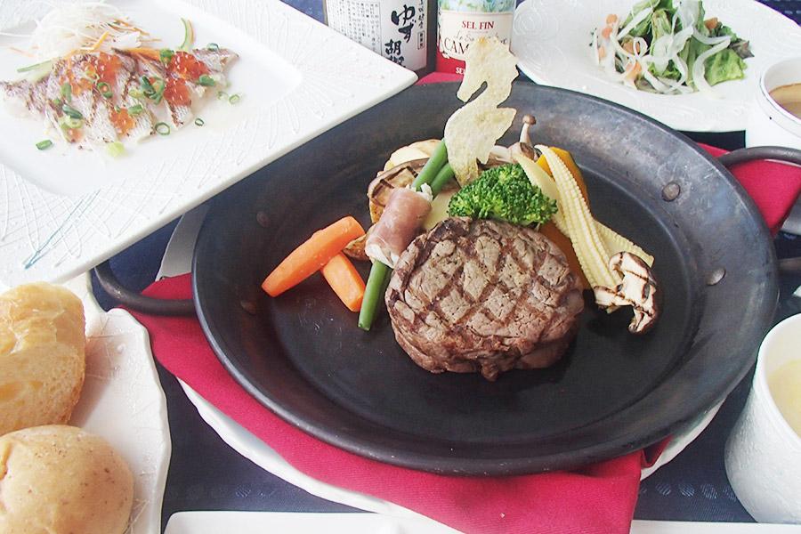 黒毛和牛ステーキディナー【ヒレ】